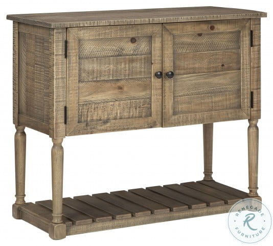 Lennick Antique Brown Accent Cabinet