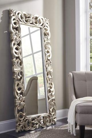 Lucia Antique Silver Accent Mirror