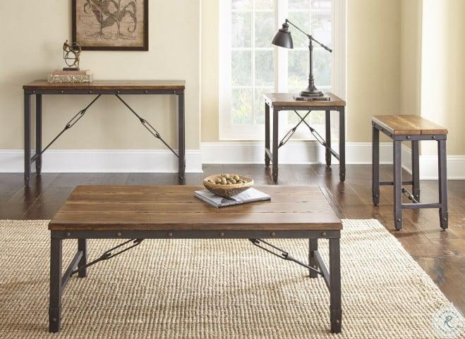 Ashford Antiqued Honey Occasional Table Set