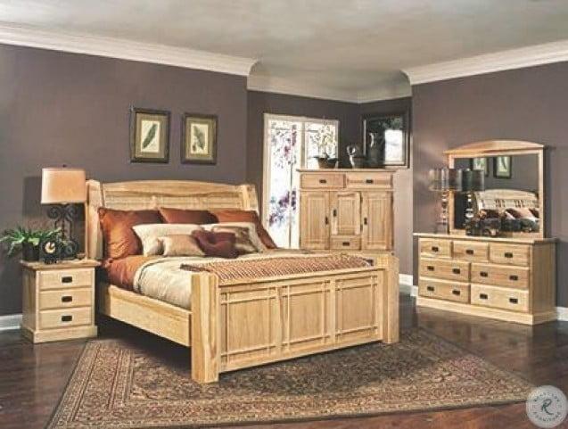 Amish Highlands Natural Arch Panel Bedroom Set