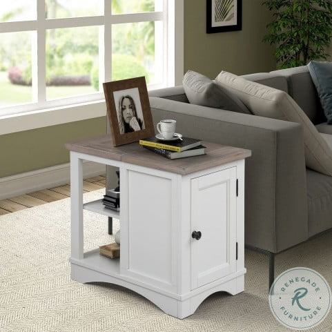 Americana Modern Cotton Chairside End Table