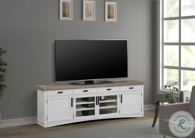 "Americana Modern Cotton 92"" TV Console"