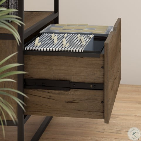 Anthropology Rustic Brown Lateral File Cabinet