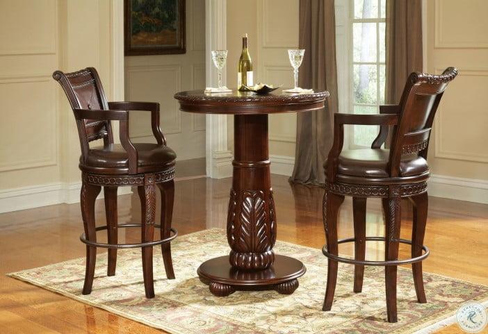 Antoinette Warm Brown Round Pub Table