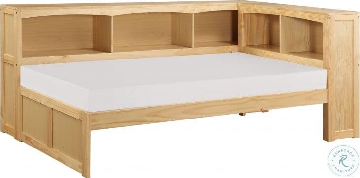 Bartly Natural Pine Youth Bookcase Corner Bedroom Set