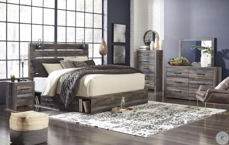 Drystan Multi Panel 4 Piece Bedroom Set With Double Underbed Storage