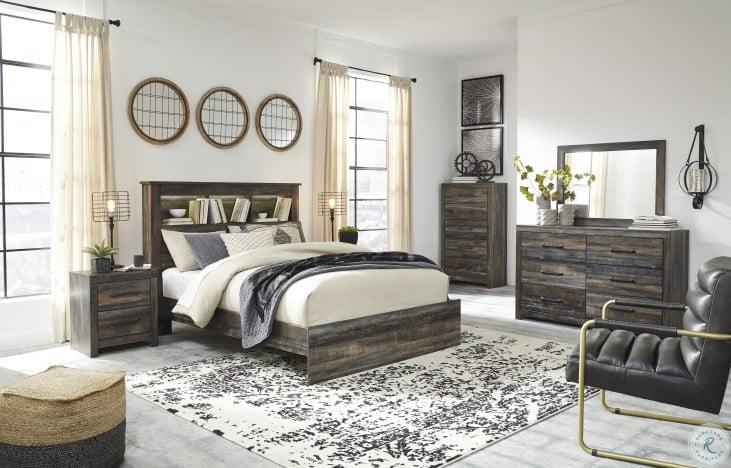 Drystan Multi Bookcase Platform Bedroom Set