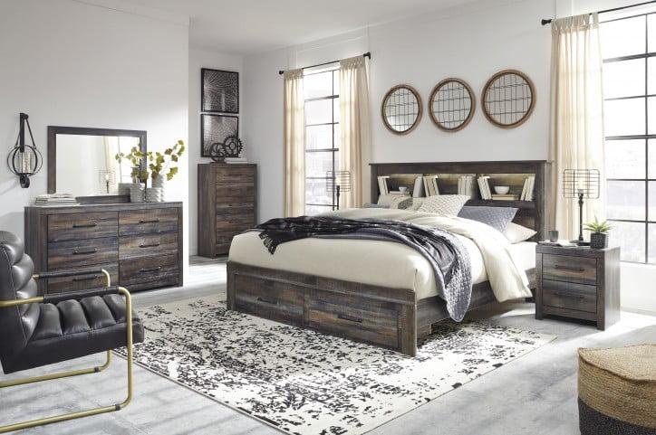 Drystan Multi King Bookcase Storage Bed