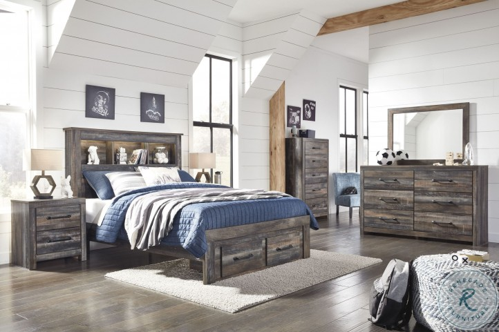 Drystan Multi Youth Bookcase Storage Bedroom Set