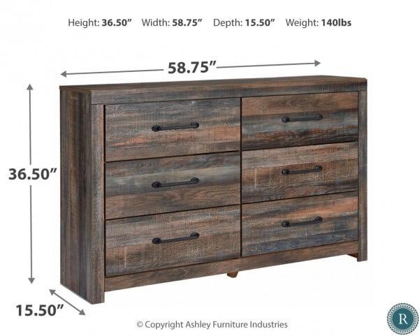 Drystan Brown Rustic Dresser