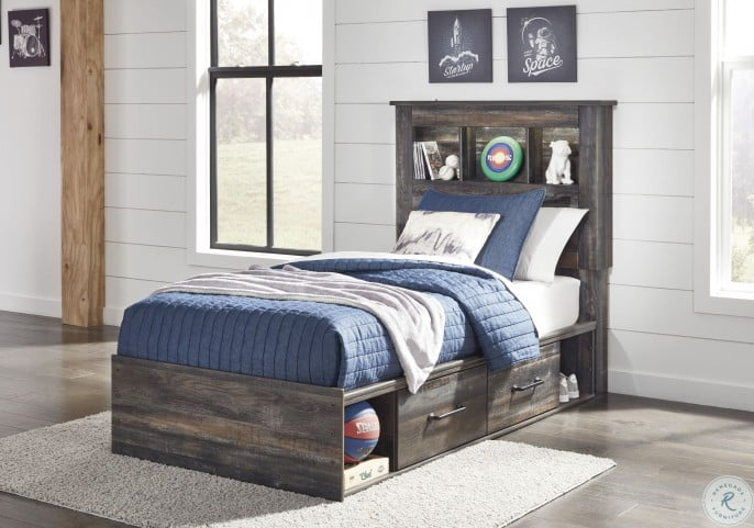Drystan Multi Youth Bookcase Panel Bedroom Set with Double Underbed Storage