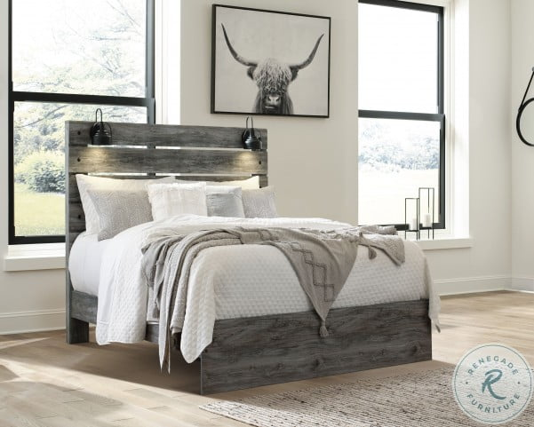 Baystorm Grayish Panel Bedroom Set