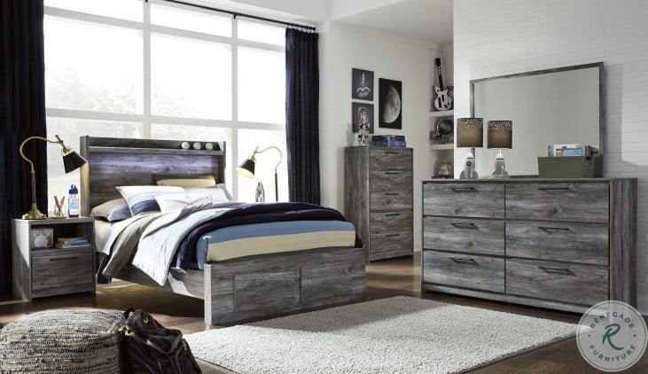 Baystorm Gray Youth Platform Bedroom Set