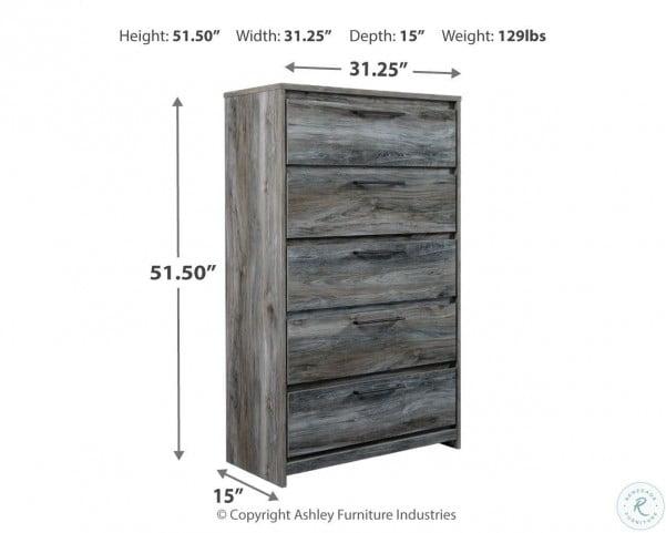 Baystorm Gray Single Platform Single Underbed Storage Bedroom Set