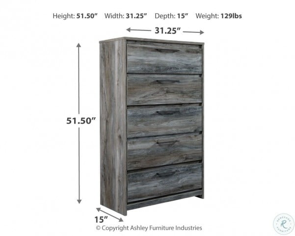 Baystorm Gray Storage Panel Bedroom Set