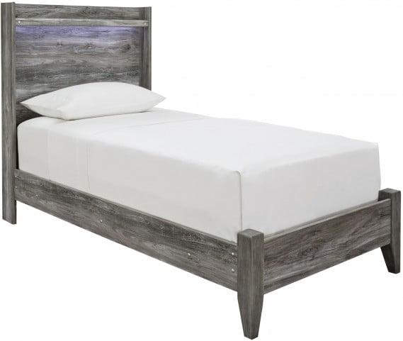 Baystorm Gray Twin Panel Bed