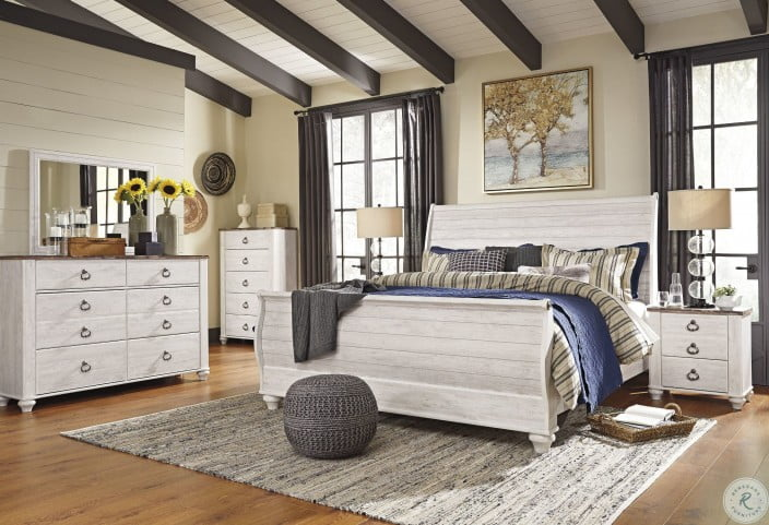 Willowton Two-tone 2 Drawer Nightstand