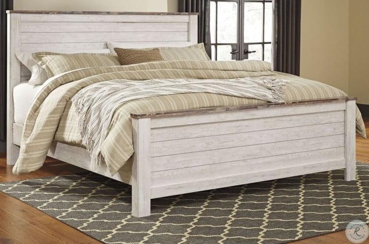 Willowton Whitewash Cal. King Panel Bed