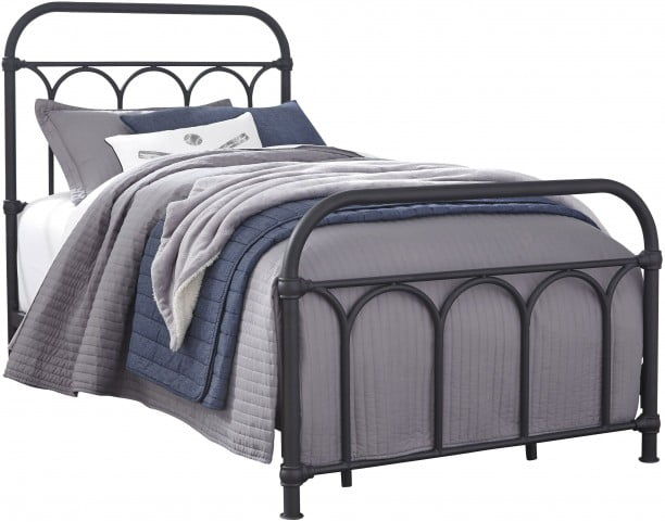 Nashburg Black Twin Metal Bed