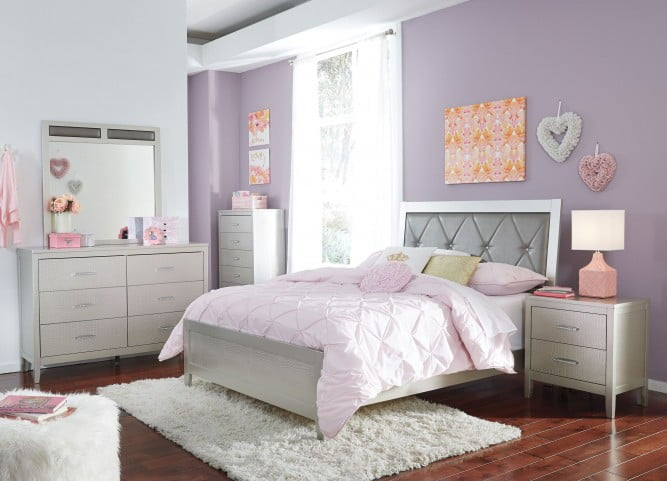 Olivet Silver Full Panel Bed