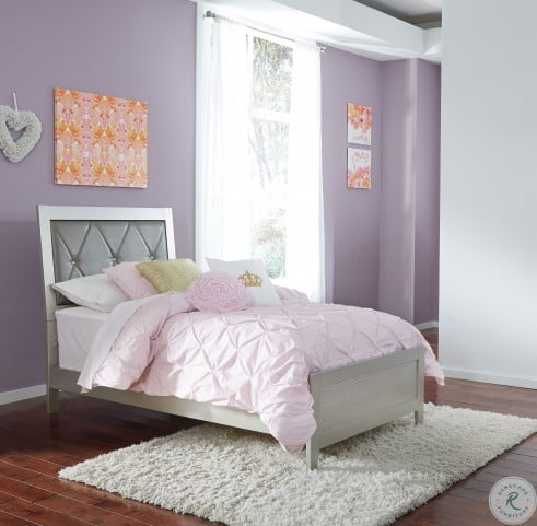 Olivet Silver Twin Panel Bed
