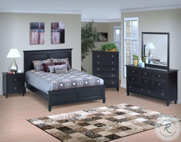 Tamarack Black Twin Panel Bed