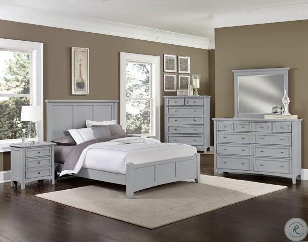 Bonanza Gray 8 Drawer Triple Dresser