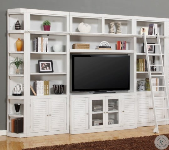 Rawlins White 32 Inches Bookcase Entertainment Wall