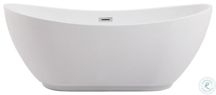 "Ines Glossy White 62"" Bath Tub"