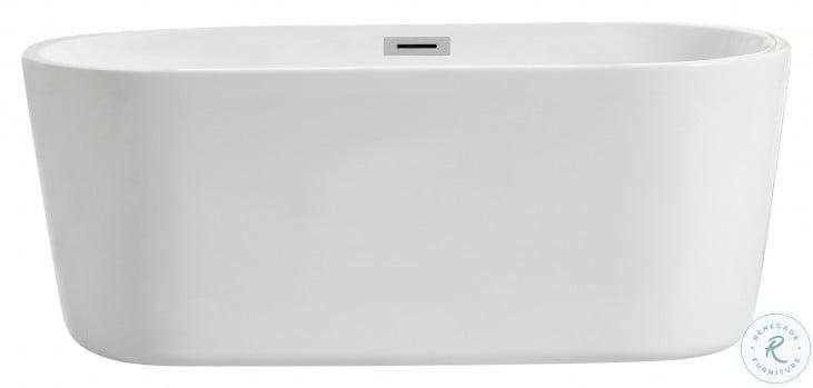 BT10659GW Odette Glossy White Oval Bathtub