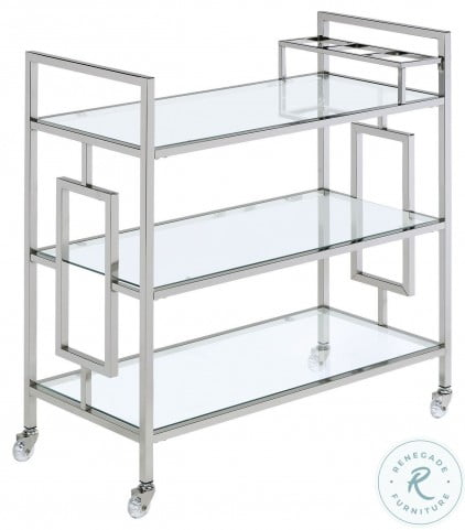 Harper Chrome Serving Bar Cart