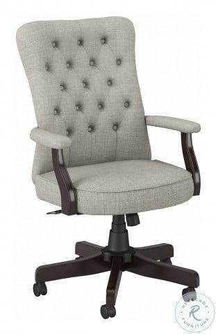 Arden Lane Light Gray Fabric High Back Adjustable Swivel Arm Office Chair