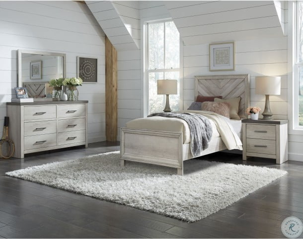 Riverwood Gray Twin Panel Bed