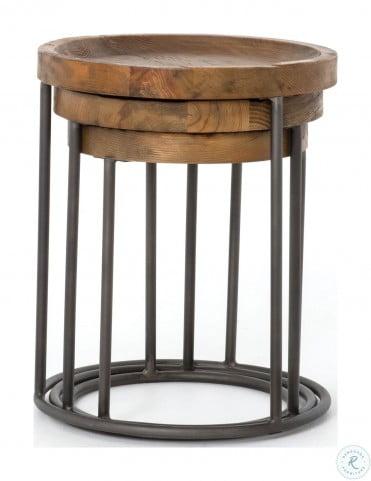 Hughes Light Rustic Black Tristan Nesting Tables