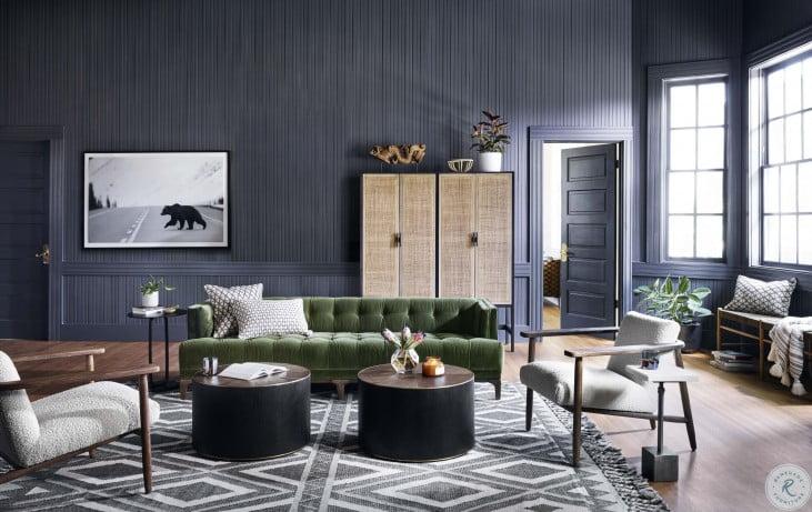 Kensington Sapphire Olive Dylan Sofa