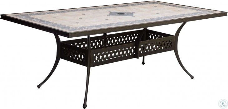 Charissa Antique Black Outdoor Patio Dining Table
