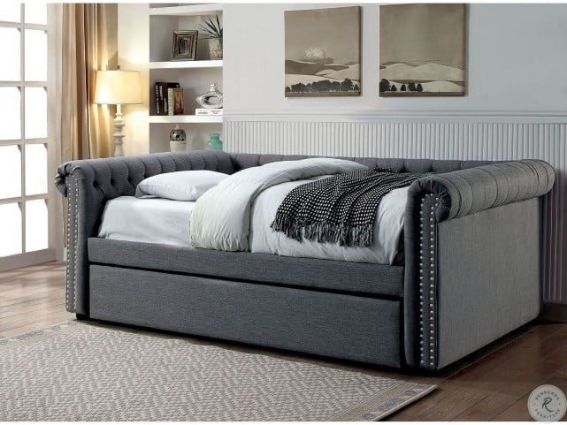 Leanna Gray Full Daybed with Twin Trundle