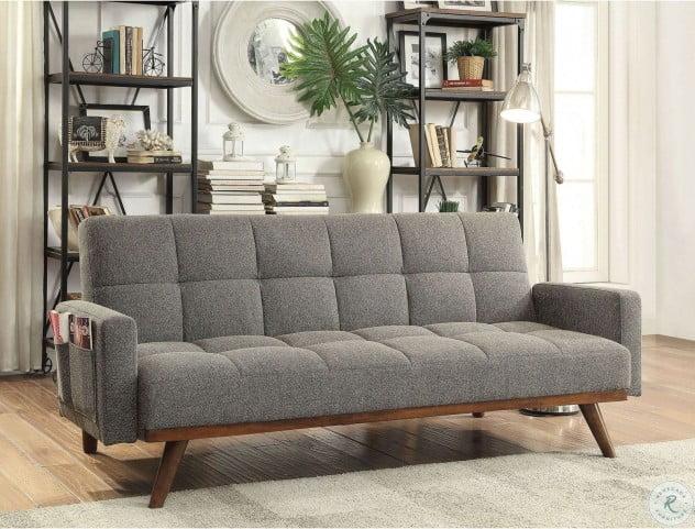 Nettie Gray Sofa Futon