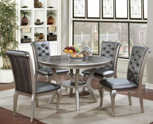 Amina Champagne Round Dining Table