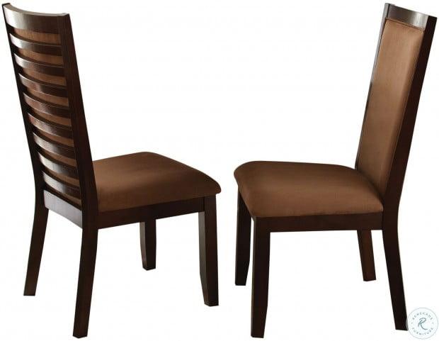Cornell Merlot Cherry Side Chair Set of 2