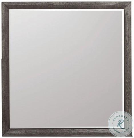 Java Dark Wood Gray Mirror