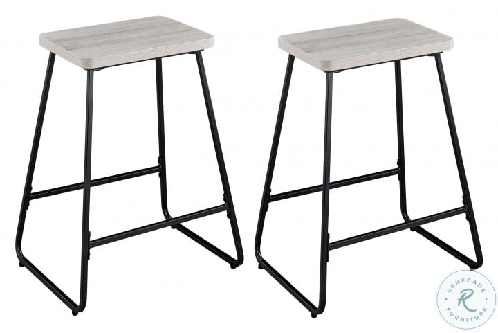 Carson Weathered Driftwood Counter Height Stool Set Of 2