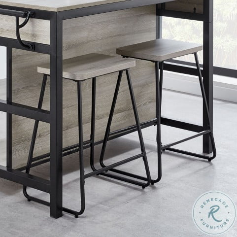Carson Weathered Driftwood Counter Height Dining Room Set