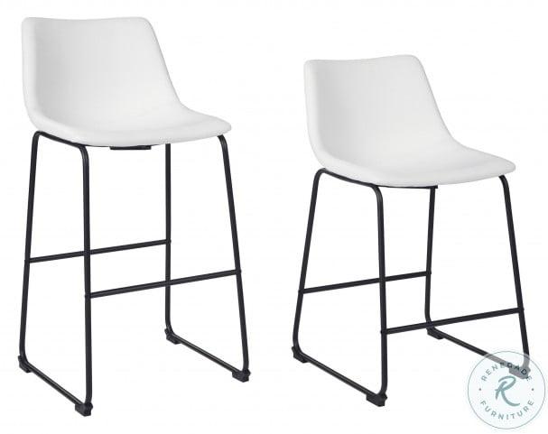 Centiar White Tall Upholstered Bar Stool Set Of 2