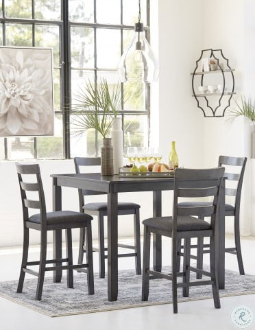 Bridson Gray 5 Piece Counter Height Dining Room Set