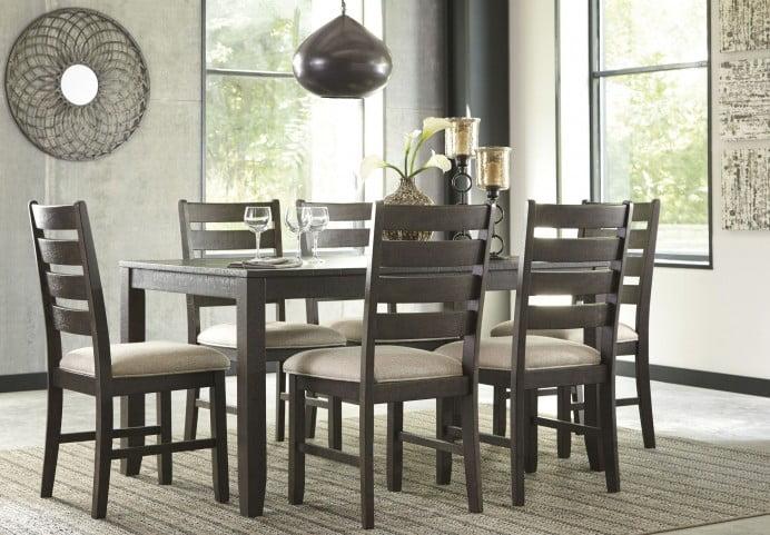 Rokane Brown 7 Piece Dining Room Set