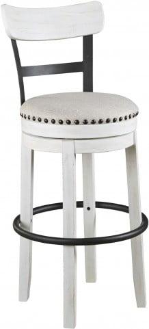 Valebeck Linen Tall Upholstered Swivel Bar Stool