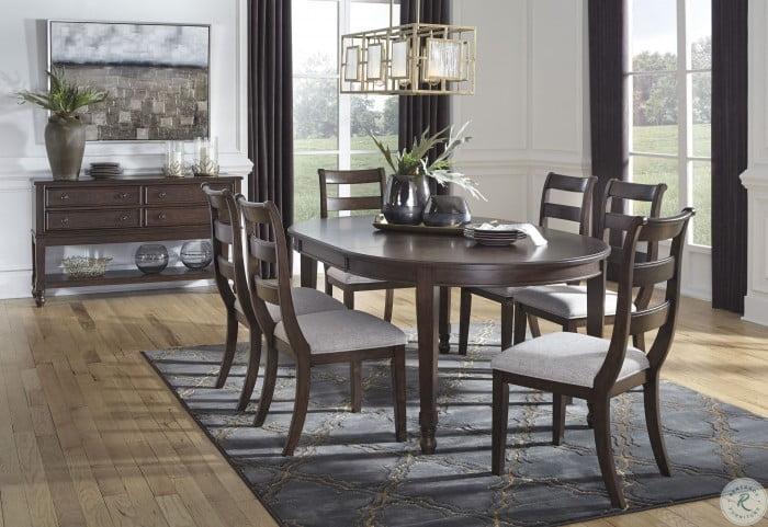 Adinton Reddish Brown Extendable Dining Room Set