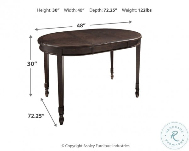 Adinton Reddish Brown Extendable Dining Table
