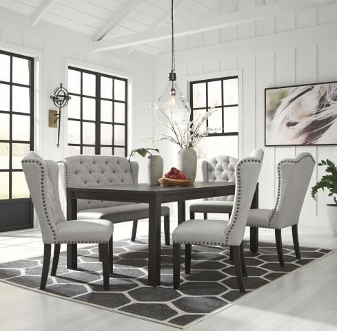 Jeanette Black Rectangular Dining Room Set